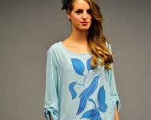 Blusa turquesa colibri