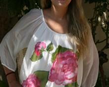 blusa rosas