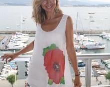 vestido seda amapola julio